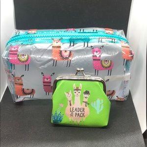 Handbags - Adorable Llama 🦙 makeup bag with coin purse